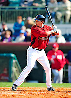 4 March 2010: Houston Astros outfielder Brian Bogusevic at bat during the Astros' Grapefruit League Opening Day game against a Washington Nationals' split squad at Osceola County Stadium in Kissimmee, Florida. The Astros defeated the Nationals 15-5 in Spring Training action. Mandatory Credit: Ed Wolfstein Photo