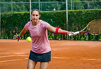 The Hague, Netherlands, 09 June, 2018, Tennis, Play-Offs Competition, Womans doubles: Danielle Harmsen (NED) <br /> Photo: Henk Koster/tennisimages.com