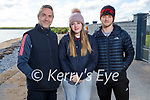 Enjoying a stroll in Fenit on Thursday, l to r: Mike and Emma Lynch and Oisin Rosney