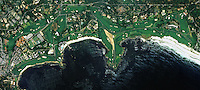 aerial photo map of Pebble Beach Golf Links, Monterey County, California