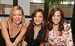 Kate Rockwell, Ashley Park and Erika Henningsen attend the 'Mean Girls' Original Broadway Cast Linyl Release at the Herald Square Urban Outfitters' on August 28, 2018 in New York City.