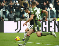 Calcio, Serie A: Juventus - Cagliari, Turin, Allianz Stadium, January 6, 2020.<br /> Juventus' Cristiano Ronaldo (l) scores during the Italian Serie A football match between Juventus and Cagliari at Torino's Allianz stadium, on January 6, 2020.<br /> UPDATE IMAGES PRESS/Isabella Bonotto