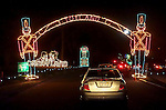 Mount Holyoke, MA town park Christmas light display.