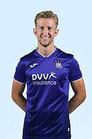 30th July 2020, Turbize, Belgium;  Michel Vlap midfielder of Anderlecht pictured during the team photo shoot of RSC Anderlecht prior the Jupiler Pro league football season 2020 - 2021 at Tubize training Grounds.