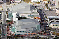 aerial photograph of the Adrienne Arsht Center for the Performing Arts, Biscayne Boulevard downtown, Miami, Florida