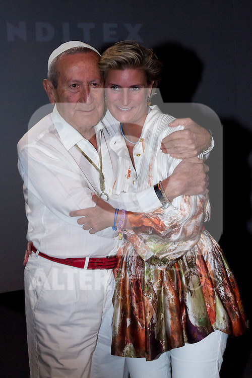 31.08.2012. Celebrities attending the Mahou Collection 1960-2012 by Elio Berhanyer  fashion show during the Mercedes-Benz Fashion Week Madrid Spring/Summer 2013 at Ifema. In the image Elio Berhanyer and Maria Zurita (Alterphotos/Marta Gonzalez)