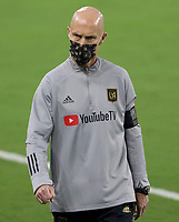 LOS ANGELES, CA - SEPTEMBER 13: Bob Bradley head coach of LAFC during a game between Portland Timbers and Los Angeles FC at Banc of California stadium on September 13, 2020 in Los Angeles, California.