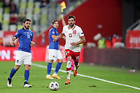 11th October 2020, The Stadion Energa Gdansk, Gdansk, Poland; UEFA Nations League football, Poland versus Italy; BARTOSZ BERESZYNSKI chases a long ball but is flagged out