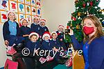 Pupils from Scoil an Ghleanna, the Glen, Ballinskelligs go online for their Christmas show, pictured here front l-r; Annie Dee, Dualta Ó Súilleabháin, Eadaoin McGillicuddy, Féilim Ó Súilleabháin, back l-r; Emma Remagen, Niklas Remagen, Emma Ní Chéilleachair agus Sonny Dee with their teacher & Principal Sorcha Ní Chathain.