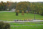 17 October 2009:  The field of the fifth race at Keeneland race course in Lexington Kentucky.