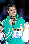 Chad le Clos (RSA), JULY 31, 2013 - Swimming : Chad le Clos of South Africa poses during medal ceremony of  the men's 200m Butterfly at the 15th FINA Swimming World Championships at Palau Sant Jordi arena in Barcelona, Spain. (Photo by Daisuke Nakashima/AFLO)