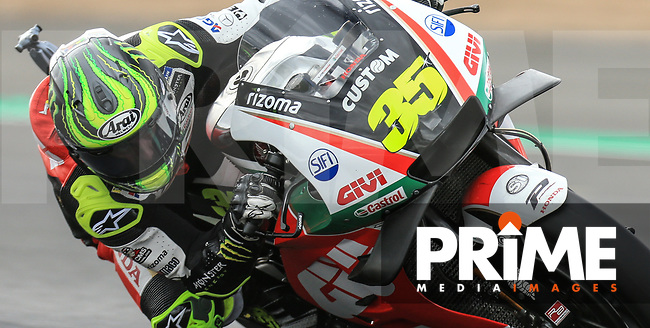 Cal Crutchlow (35) of the LCR Honda CASTROL race team during the GoPro British MotoGP at Silverstone Circuit, Towcester, England on 24 August 2018. Photo by Chris Brown / PRiME Media Images