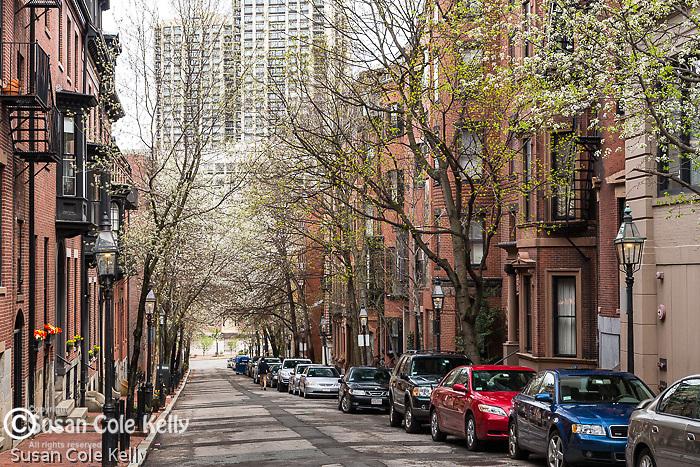 Historic brownstones on Beacon Hill, Boston, Massachusetts, USA