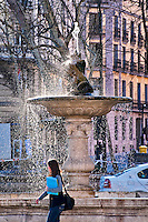 Fountain in the Paseo del Prado, Madrid, Spain