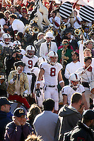 2 December 2006: Richard Sherman and Evan Moore during Stanford's 26-17 loss to Cal in the 109th Big Game at Memorial Stadium in Berkeley, CA.