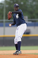 Charlyn Garcia (30) Pitcher for the GCL Yankees during a game on June 28, 2010 against the GCL Blue Jays at the Yankees Training Complex in Tampa, The GCL Yankees are the Gulf Coast Rookie League affiliate of the New York Yankees. Photo By Mark LoMoglio/Four Seam Images