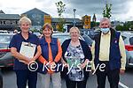 Eileen O'Sullivan Waterville, Maura  Corcoran Caherciveen, Noreen Hoaure and John Cronin Killorglin at the St Pauls BC drive in bingo in Killarney Sunday evening