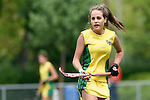 GER - Mannheim, Germany, May 24: During the U16 Girls match between Australia (green) and Germany (white) during the international witsun tournament on May 24, 2015 at Mannheimer HC in Mannheim, Germany. Final score 0-6 (0-3). (Photo by Dirk Markgraf / www.265-images.com) *** Local caption *** Amy Capaldi #5 of Australia