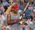 Serena Williams (USA) defeats Caroline Wozniacki (DEN) 6-3, 6-3 in the finals  at the US Open being played at USTA Billie Jean King National Tennis Center in Flushing, NY on September 7, 2014