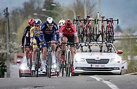 Louis Vervaeke (BEL/Alpecin-Fenix) leading the breakaway group<br /> <br /> 85th La Flèche Wallonne 2021 (1.UWT)<br /> 1 day race from Charleroi to the Mur de Huy (BEL): 194km<br /> <br /> ©kramon