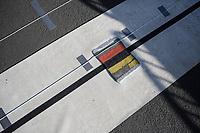 Finish line.<br /> <br /> 102nd Kampioenschap van Vlaanderen 2017 (UCI 1.1)<br /> Koolskamp - Koolskamp (192km)