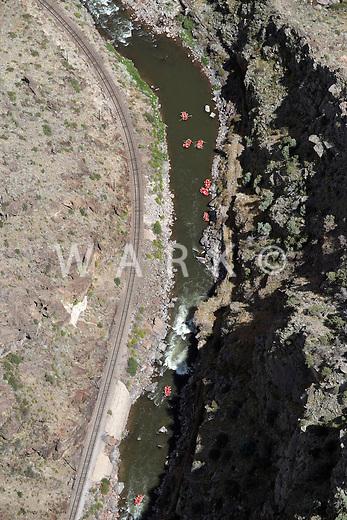 River rafters in Royal Gorge canyon, Arkansas River, Colorado. Aug 23, 2014. 813123