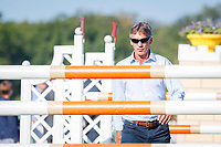 NZL-Andrew Nicholson walks the course for the Showjumping. 2018 GBR-Land Rover Burghley Horse Trials CCI4*. Sunday 2 September. Copyright Photo: Libby Law Photography
