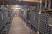 Bottles aging in the cellar. Domaine Negociant Champy Pere & Fils, Beaune, Burgundy, France