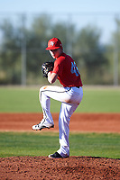 Oaklee Spens (46), from Burbank, California, while playing for the Cardinals during the Under Armour Baseball Factory Recruiting Classic at Red Mountain Baseball Complex on December 28, 2017 in Mesa, Arizona. (Zachary Lucy/Four Seam Images)