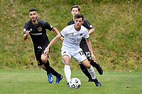 Samuel Pickering of Hawke's Bay United  during the ISPS Handa Men's Premiership - Team Wellington v Hawke's Bay United at David Farrington Park, Wellington on Saturday 21 November 2020.<br /> Copyright photo: Masanori Udagawa /  www.photosport.nz