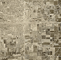 historical aerial photograph Visalia, Tulare county, California, 1969