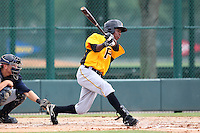 GCL Pirates outfielder Junior Sosa #6 at bat during a game against the GCL Braves at Disney Wide World of Sports on June 25, 2011 in Kissimmee, Florida.  The Pirates defeated the Braves 5-4 in ten innings.  (Mike Janes/Four Seam Images)
