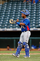 Fernando Vivili #66 of the AZL Rangers during a game against the AZL Royals at Surprise Stadium on July 15, 2013 in Surprise, Arizona. AZL Rangers defeated the AZL Royals, 3-2. (Larry Goren/Four Seam Images)
