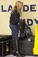 ESPN sideline reporter Jenn Brown. The Pitt Panthers defeated the USF Bulls 44-17 on September 29, 2011 at Heinz Field in Pittsburgh Pennsylvania.