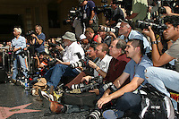 Photographers  at the Star on the Walk of Fame Ceremony for Tim Robbins on the Hollywood Walk of Fame outside the Kodak Theater  in Los Angeles,  CA on.October 10, 2008.©2008 Kathy Hutchins / Hutchins Photo...                .