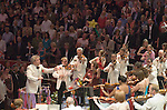 The Last Night of the Proms. The Royal Albert Hall South Kensington London. UK  2007. Jiri Belohlavek conducts the  Henry Wood Promenade Concerts.
