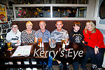 Enjoying the reopening of the Brogue Inn on Thursday, l to r: Noel , Anna and Ger O'Neill from Killarney, George, George and Tina Travers.