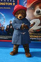 "LOS ANGELES - JAN 6:  Paddington Bear Character at the ""Paddington 2"" US Premiere at Village Theater on January 6, 2018 in Westwood, CA"