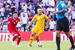 Massimo Luongo of Australia (R) is followed by Yousef Rawshdeh of Jordan during the AFC Asian Cup UAE 2019 Group B match between Australia (AUS) and Jordan (JOR) at Hazza Bin Zayed Stadium on 06 January 2019 in Al Ain, United Arab Emirates. Photo by Marcio Rodrigo Machado / Power Sport Images
