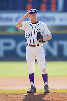 High Point Panthers relief pitcher Cas Silber (29) looks to his catcher for the sign against the Bowling Green Falcons at Willard Stadium on March 9, 2014 in High Point, North Carolina.  The Falcons defeated the Panthers 7-4.  (Brian Westerholt/Four Seam Images)
