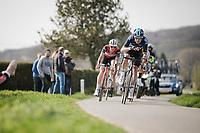 Luke Rowe (GBR/SKY) descending from the Kemmelberg<br /> <br /> 81st Gent-Wevelgem 'in Flanders Fields' 2019<br /> One day race (1.UWT) from Deinze to Wevelgem (BEL/251km)<br /> <br /> ©kramon