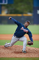 Atlanta Braves Jose Montilla (73) during a Minor League Spring Training game against the New York Yankees on March 12, 2019 at New York Yankees Minor League Complex in Tampa, Florida.  (Mike Janes/Four Seam Images)