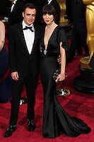 HOLLYWOOD, LOS ANGELES, CA, USA - MARCH 02: Barnaby Clay, Karen O at the 86th Annual Academy Awards held at Dolby Theatre on March 2, 2014 in Hollywood, Los Angeles, California, United States. (Photo by Xavier Collin/Celebrity Monitor)