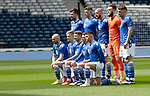 St Johnstone v Hibs…22.05.21  Scottish Cup Final Hampden Park<br />The saints starting XI line up before kick off, back row from left, Callum Booth, Liam Gordon, Shaun Rooney, Zander Clark, Jamie McCart and Jason Kerr.<br />Front row from left, Chris Kane, Ali McCann, David Wotherspoon, Craig Bryson and Glenn Middleton.<br />Picture by Graeme Hart.<br />Copyright Perthshire Picture Agency<br />Tel: 01738 623350  Mobile: 07990 594431