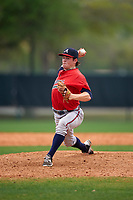 Atlanta Braves Sean Mclaughlin (83) during an intrasquad Spring Training game on March 29, 2016 at ESPN Wide World of Sports Complex in Orlando, Florida.  (Mike Janes/Four Seam Images)