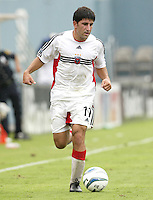 26 June 2004:   DC United Forward Alecko Eskandarian in action against Dallas Burn at Cotton Bowl in Dallas, Texas.   DC United and Dallas Burn are tied 1-1 after the game.   Credit: Michael Pimentel / ISI