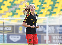 20190227 - LARNACA , CYPRUS :  Belgian Shari Van Belle pictured during a women's soccer game between the Belgian Red Flames and Slovakia , on Wednesday 27 February 2019 at the AEK Arena in Larnaca , Cyprus . This is the first game in group C for Belgium during the Cyprus Womens Cup 2019 , a prestigious women soccer tournament as a preparation on the Uefa Women's Euro 2021 qualification duels. PHOTO SPORTPIX.BE | DAVID CATRY