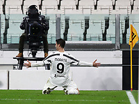 Calcio, Serie A: Juventus FC - S.S.Lazio, Turin, Allianz Stadium, March 6, 2021.<br /> Juventus' Alvaro Morata celebrates after scoring during the Italian Serie A football match between Juventus and Lazio at the Allianz stadium in Turin, on March 6, 2021.<br /> UPDATE IMAGES PRESS/Isabella Bonotto