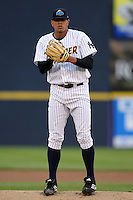 Trenton Thunder starting pitcher Dellin Betances #50 delivers a pitch during a game against the Portland Sea Dogs at Waterfront Park on May 4, 2011 in Trenton, New Jersey.  Trenton defeated Portland by the score of 7-1.  Photo By Mike Janes/Four Seam Images
