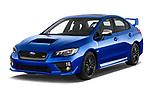 2017 Subaru WRX STI Sport Premium 4 Door Sedan angular front stock photos of front three quarter view